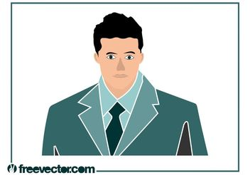 Businessman Illustration - vector gratuit #151611