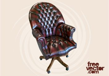 Chesterfield Office Chair - vector #151701 gratis