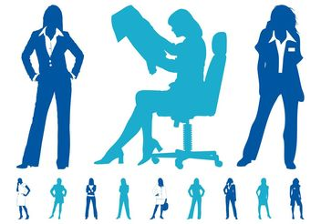 Businesswomen Graphics Set - vector gratuit #151791