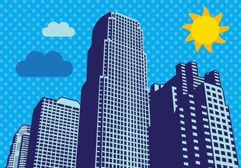 City Skyscrapers Vector - vector #151811 gratis