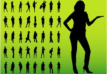 Female Silhouettes - Kostenloses vector #151831