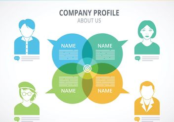 Free Company Profile Template Vector - бесплатный vector #151881