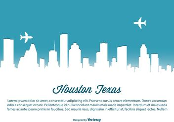 Houston Skyline Illustration - vector gratuit #151901
