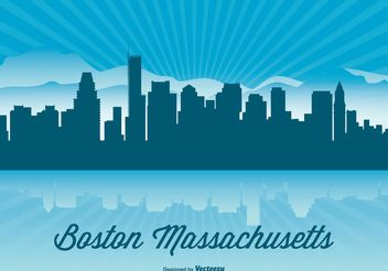 Boston Skyline Illustration - vector gratuit #151911