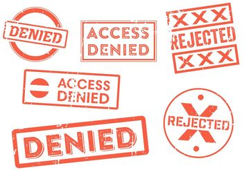 Denied Stamp Vector Set - vector gratuit #151921
