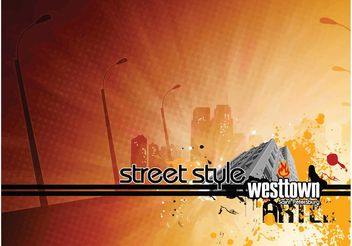 Street Style West Town - Free vector #151991