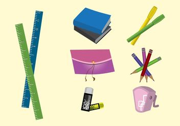 School Supplies - vector gratuit #152021