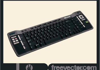 Black PC Keyboard - бесплатный vector #152171