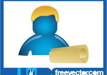 Person With Paper Scroll - Kostenloses vector #152181
