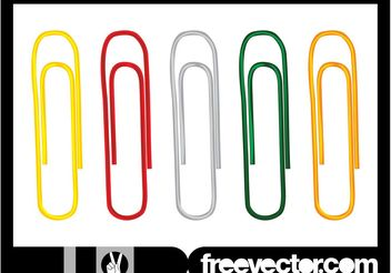 Paperclips Set - Free vector #152201