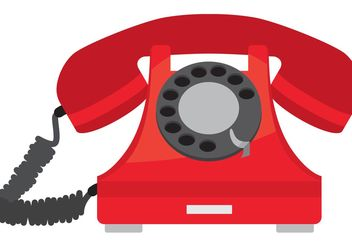 Old Phone Vector - vector gratuit #152251