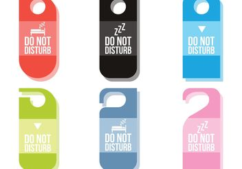 Do Not Disturb Vectors - vector gratuit #152281