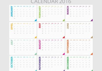 Daily Planner 2016 - Free vector #152311