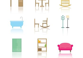 Furniture Vector Icons - vector #152321 gratis