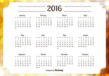 2016 Calendar Illustration - Kostenloses vector #152341