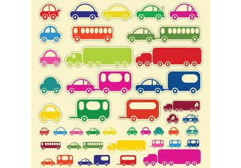 Car Truck Bus Vectors - vector gratuit #152371