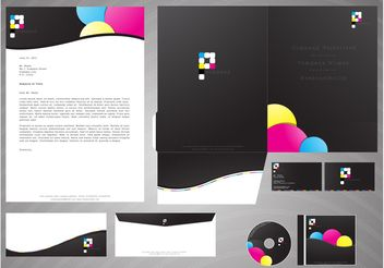 Corporate Branding Package - Free vector #152491