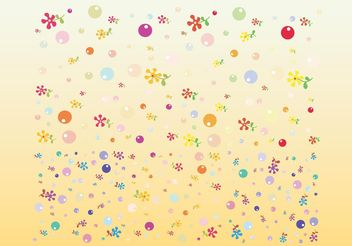 Cute Flowers Vectors - Free vector #152671