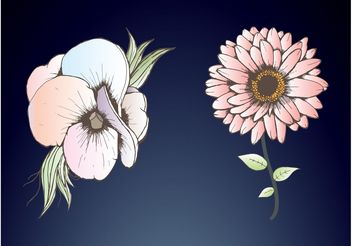 Gentle Flowers - Free vector #152681