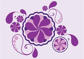Flowers And Drops - vector gratuit #152791