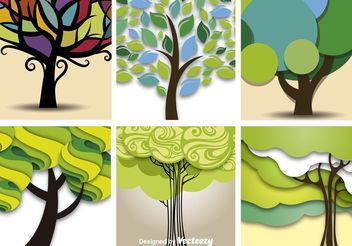 Abstract Vector Trees - Free vector #152801
