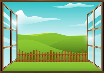 Window View Vector - Free vector #152841
