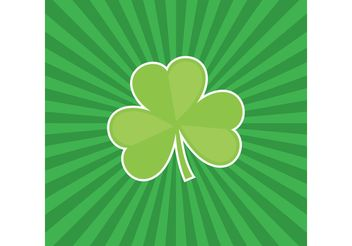 Three Leaf Clover Vector with Sunburst Background - Free vector #152901