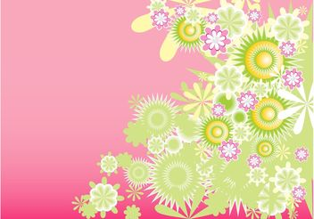 Green Decorative Flowers - vector gratuit #153001