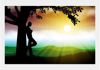 Beautiful Nature Vector - vector gratuit #153011