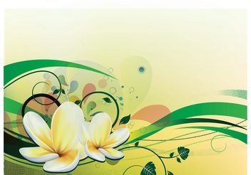 Water Lily Vector - бесплатный vector #153081