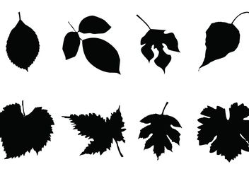 Free Leaf Silhouettes Vector Set - Free vector #153171
