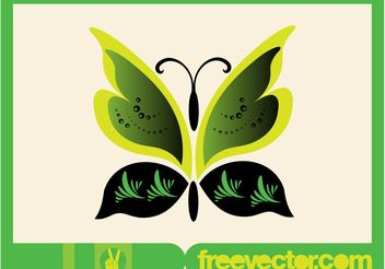 Green Vector Butterfly - Free vector #153181