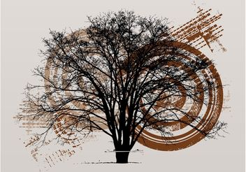 Grunge Tree Layout - vector gratuit #153211