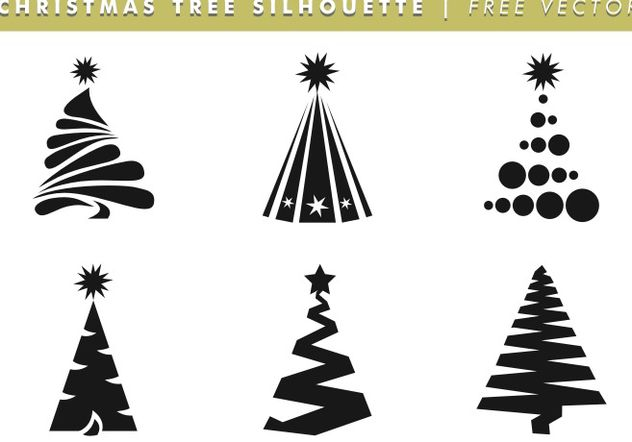 Christmas Tree Silhouettes Free Vector - vector gratuit #153391