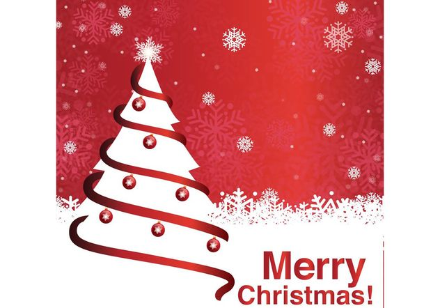 Merry Christmas Tree Background - Free vector #153481