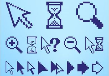 Pixelated Icons Set - Free vector #153591