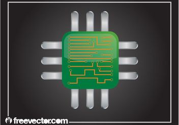 Computer Chip Graphics - Free vector #153611