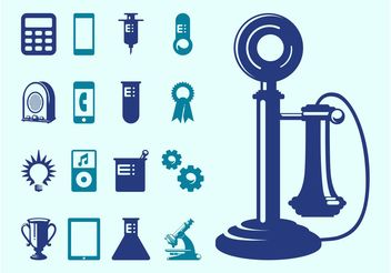 Technology And Science Icons - vector gratuit #153641