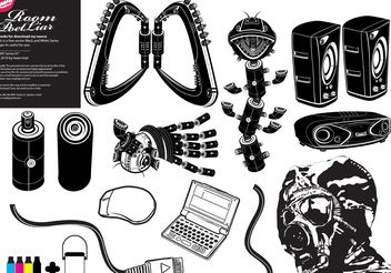 Free Black White Vector # 1 - бесплатный vector #153681