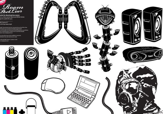Free Black White Vector # 1 - Free vector #153681