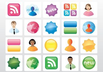 Vector Icon Buttons - vector gratuit #153711