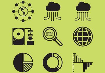 Big Data Icons - Free vector #153831
