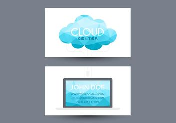 Free Cloud Computing Visiting Card Vector Design - бесплатный vector #153841