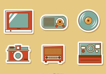 Retro Style Media Vector Pack 3 - Free vector #153881