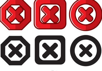 Cancelled Icon Vectors - vector #154011 gratis