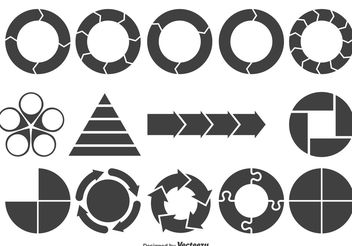 Assorted Chart Shapes - Free vector #154021