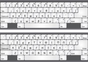 Greek Alphabet Keyboard Vectors - Free vector #154041