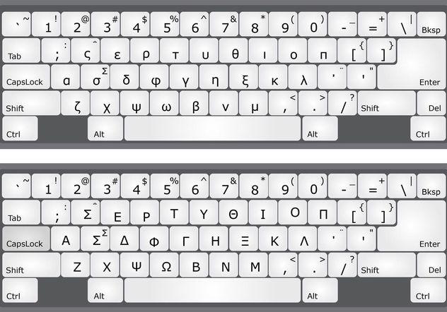 Greek Alphabet Keyboard Vectors Free Vector Download 154041 | CannyPic