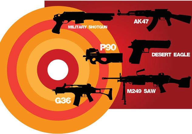 Weapons of War - Free vector #154061