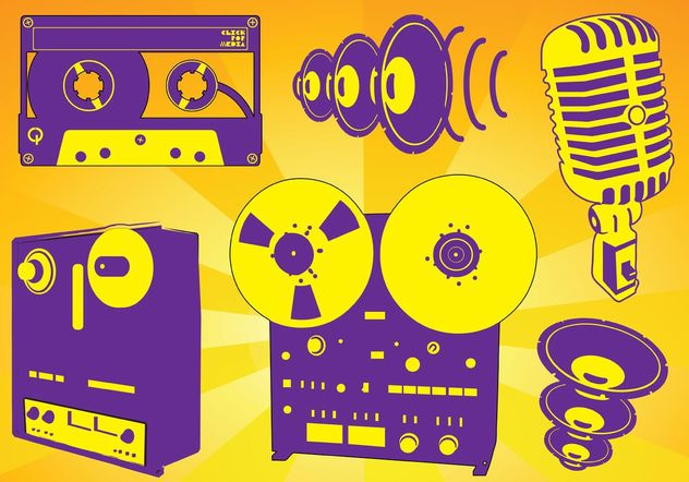 Free Music Recording Vectors - Free vector #154141